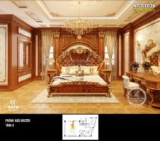 Ấn tượng với mẫu phòng ngủ tân cổ điển hoàng gia – Mã số NT 01036